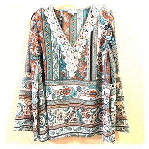Umgee Brand long sleeve blouse